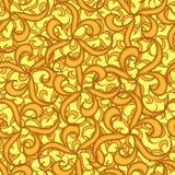 Naadloos gouden behang Stock Fotografie