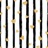 Naadloos gouden hartpatroon EPS vectordossier royalty-vrije illustratie
