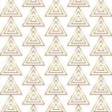 Naadloos gouden lijn geometrisch modern patroon Achtergrond met driehoeken Gouden textuur stock illustratie