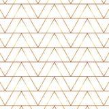 Naadloos gouden lijn geometrisch modern patroon Achtergrond met driehoeken Gouden textuur royalty-vrije illustratie