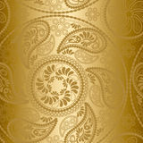 Naadloos gouden patroon Stock Afbeeldingen