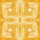 Naadloos gouden spiralenpatroon Visueel Volumeeffect Geschikt voor textiel, stof en verpakking Royalty-vrije Stock Fotografie