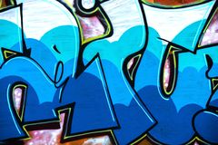Naadloos graffitipatroon royalty-vrije stock foto