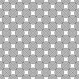 Naadloos Gray Abstract Modern Concentric Circles Vector Illustratie