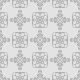 Naadloos grijs abstract patroon in etnische stijl Stock Foto