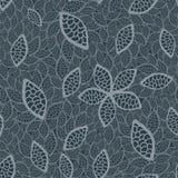 Naadloos grijs bladerenbehang Royalty-vrije Stock Afbeelding