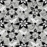 Naadloos grijs bloemenpatroon stock illustratie