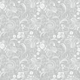 Naadloos grijs bloemenpatroon Stock Fotografie