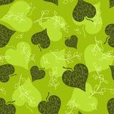 Naadloos groen bladerenpatroon. Stock Afbeelding