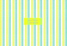 Naadloos groen en geel zigzag vectorpatroon stock illustratie