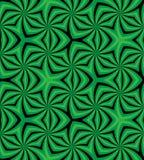 Naadloos Groen en Zwart Spiraalvormig Patroon Geometrische abstracte achtergrond Geschikt voor textiel, stof, verpakking en Web o Stock Afbeeldingen