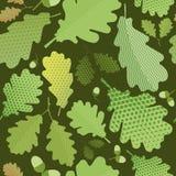 Naadloos groen gebladerte Stock Foto
