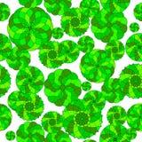 Naadloos groen geometrisch patroon op een witte achtergrond Royalty-vrije Stock Fotografie