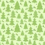 Naadloos groen patroon met hand getrokken Kerstmis Stock Foto's