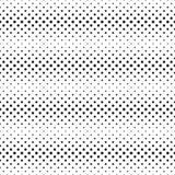 Naadloos halftone horizontaal vlek-lijnen patroon van zwarte rond gemaakte vierkanten op wit Contrasty halftone achtergrond Vecto Stock Foto