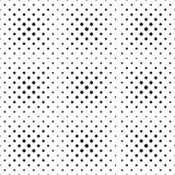 Naadloos halftone vlekpatroon van rond gemaakte vierkanten op witte achtergrond Contrasty halftone achtergrond Vector Stock Afbeeldingen