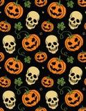 Naadloos Halloween Royalty-vrije Stock Afbeeldingen