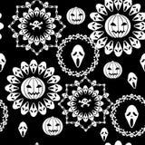 Naadloos Halloween Stock Foto's