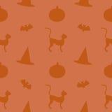 Naadloos Halloween-Materiaal stock illustratie
