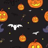 Naadloos Halloween-patroon Royalty-vrije Stock Afbeelding