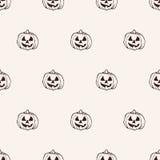 Naadloos Halloween-Pompoenpatroon Stock Afbeelding