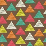 Naadloos hand-drawn driehoekenpatroon royalty-vrije illustratie