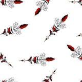 Naadloos hand getrokken patroon als achtergrond met pijlen Vector royalty-vrije illustratie