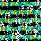 Naadloos hand getrokken waterverfpatroon Helder Ontwerp voor Behang, Tegel, Textiel, Stof, het Verpakken, Verpakking, Camouflaged royalty-vrije illustratie