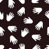 Naadloos handenpatroon Royalty-vrije Stock Fotografie