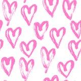 Naadloos hart abstract patroon royalty-vrije illustratie