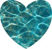 Naadloos hart gevormd water stock afbeelding