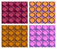 Naadloos hartpatroon Stock Fotografie