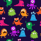 Naadloos helder patroon van monsters Stock Foto