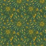 Naadloos heldergroen abstract patroon van bladeren Royalty-vrije Stock Afbeeldingen