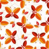 Naadloos herfstpatroon met vlinders royalty-vrije illustratie