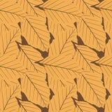 Naadloos herhaal Duelkleur Autumn Leaves stock illustratie