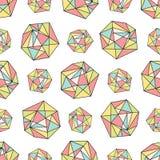 Naadloos herhaal patroon met veelhoekige vormen Stock Afbeelding