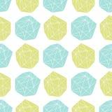 Naadloos herhaal patroon met veelhoekige vormen Stock Fotografie