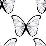 Naadloos het betegelen het herhalen vlinderpatroon Stock Afbeelding