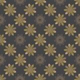 Naadloos het herhalen patroon met gekleurde abstracte bloemen Royalty-vrije Stock Afbeeldingen