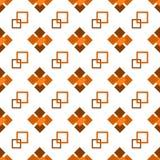 Naadloos het herhalen patroon van bruine vierkanten Stock Afbeelding