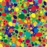 Naadloos het herhalen patroon van multi-colored vlekken en punten Royalty-vrije Stock Foto