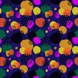Naadloos het herhalen patroon van multi-colored vormen en punten Vector Illustratie
