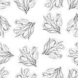 Naadloos het herhalen patroon van tulpen halftone Vector Royalty-vrije Stock Foto