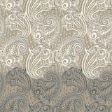 Naadloos het kantpatroon van Paisley Royalty-vrije Stock Afbeelding