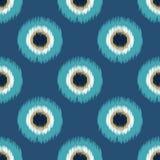 Naadloos het ornamentpatroon van cirkelpunten Royalty-vrije Stock Afbeeldingen