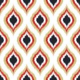 Naadloos het ornamentpatroon van de gekrabbelruit Royalty-vrije Stock Afbeeldingen