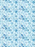 Naadloos het patroonbehang van de waterverfcirkel Stock Foto
