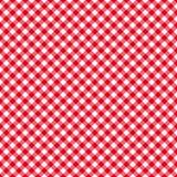 Naadloos het patroonrood van de lijstdoek Stock Fotografie