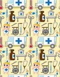 Naadloos het ziekenhuispatroon Royalty-vrije Stock Foto's